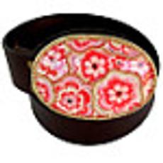 Iris Designs Pink Patterns Belt Buckle