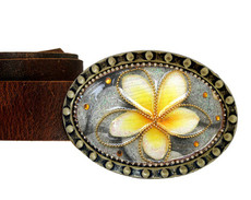 Iris Designs Daffodil Belt Buckle