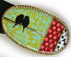 Iris Designs Lovebirds Belt Buckle