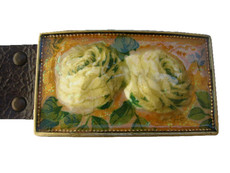 Iris Designs Bouquet Belt Buckle