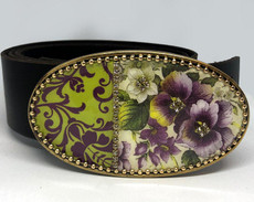 Iris Designs Laced With Delight Belt Buckle