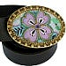 Iris Designs Pretty in Purple Belt Buckle