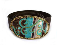Iris Designs Turquoise Mango Belt Buckle