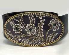 Iris Designs Canvas Belt Buckle
