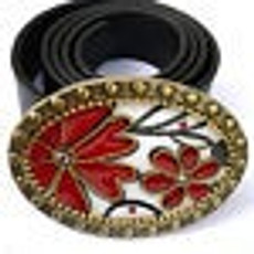 Iris Designs Red Forest Belt Buckle