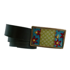 Iris Designs Fields of Flowers Belt Buckle