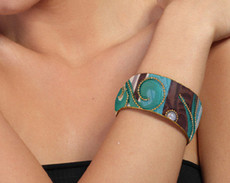 Iris Designs Patched Up Bangle