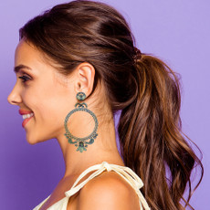 Ayala Bar Blue Velvet Elegant Gal Earrings