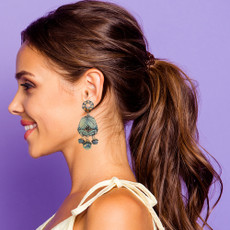 Ayala Bar Blue Velvet Chandelier Earrings