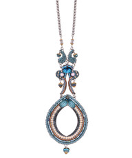 Ayala Bar Blue Velvet Cycle of Life Necklace