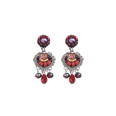 Ayala Bar Ruby Love Jar of Happiness Earrings