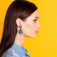 Ayala Bar Autumn Green Eyes Earrings