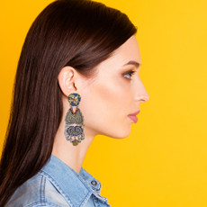 Ayala Bar Butterfly Wings Heart of Marigold Earrings