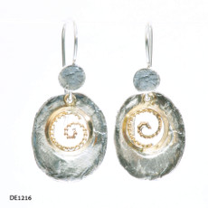 Dganit Hen Oval Spiral Earrings