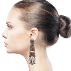 Ayala Bar Indigo A New Color Earrings