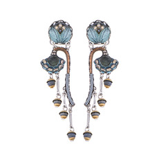 Ayala Bar Blue Velvet Growing Flowers Earrings