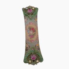 Michal Negrin Victorian Pink Rose Swarovski Crystals Mezuzah