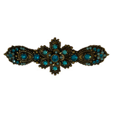Michal Negrin Antique Blue Hair Brooch