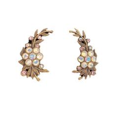 Michal Negrin Jewelry White Clip Earrings
