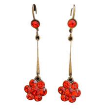 Michal Negrin Simple Rose Orange Flower Dangle Earrings