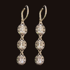 Michal Negrin 925 Sterling Silver Hope French Wire Earrings