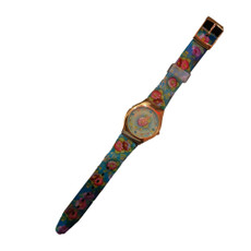 Michal Negrin Vintage Style Crystal Flowers Hand Watch