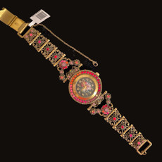 Michal Negrin Cameo Jeweled Wrist Crystals Watch