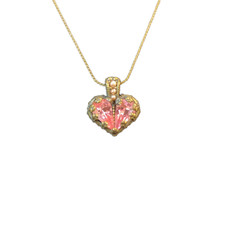 Michal Negrin Fell my Heart Hot Pink Necklace