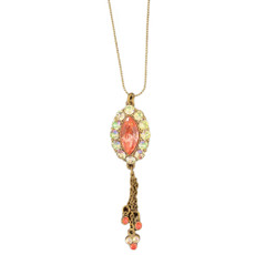 Michal Negrin Pink Oval Necklace