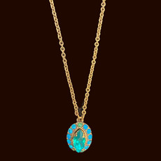 Michal Negrin Time To Sparkle Blue Necklace