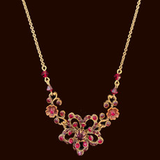 Michal Negrin Antique Shine Red Necklace