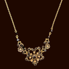 Michal Negrin Antique Shine Black Necklace