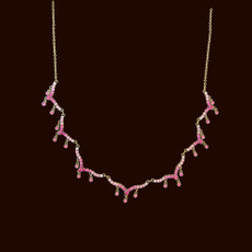 Michal Negrin Dare to Dazzle Pink Necklace