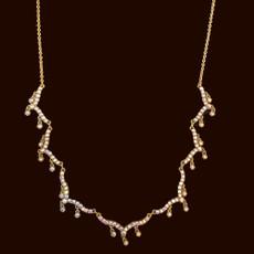 Michal Negrin Dare to Dazzle White Necklace