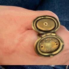 Michal Negrin Victorian Elegance Locket Black Ring