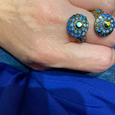 Michal Negrin Multi Blue Spiral Ring