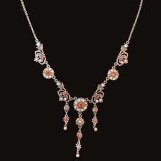 Michal Negrin Elegant Zinnia Classic Necklace