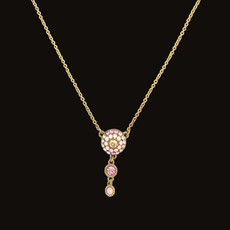 Michal Negrin Dazzle Dreams Soft Pink Necklace