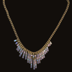 Michal Negrin Stylish Stringing shades of Purple Necklace