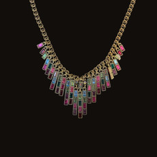 Michal Negrin Stylish Stringing Multicolor Necklace