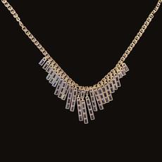Michal Negrin Stylish Stringing Black Necklace