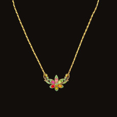 Michal Negrin Swarovski Crystals Multicolor Flower Necklace