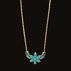 Michal Negrin Pretty In Jewels Turquoise Flower Necklace