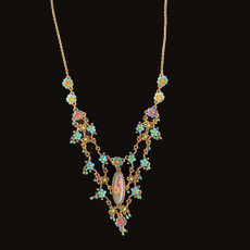Michal Negrin Viva Flower Turquoise Necklace