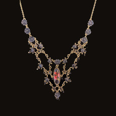 Michal Negrin Viva Flower Blacknight Necklace