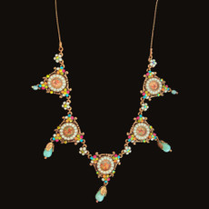 Michal Negrin Fabulous Swarovski Crystals Love Necklace