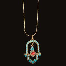 Michal Negrin Hamsa Jewels Necklace