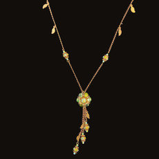 Michal Negrin Classic Snapdragon Flowers Necklace