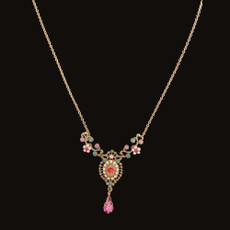 Michal Negrin Precious Rose Necklace