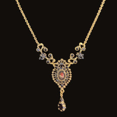 Michal Negrin Precious Rose Night Necklace
